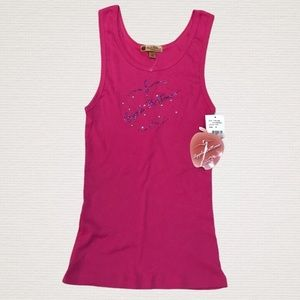 APPLE BOTTOMS By Nelly Fuschia Sparkly Tank Top
